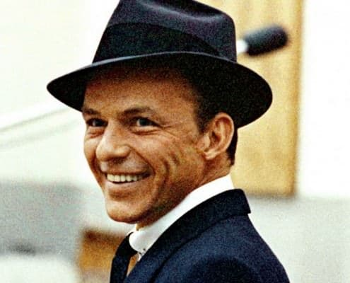 Frank Sinatra With Collar Pin