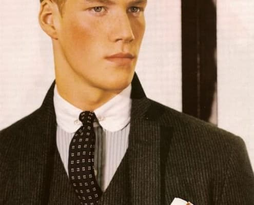 Ralph Lauren Model With Collar Pin