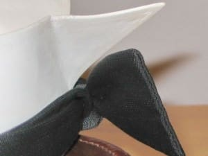 Single Ended Bow Tie on Detachable Collar