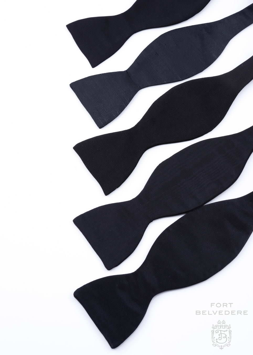 How To Tie A Bow Gentlemans Gazette Tying Diagram Assorted Black Ties In Satin Shantung Faille Barathea Moire