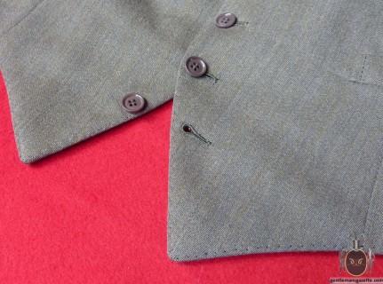 Waistcoat Sham button