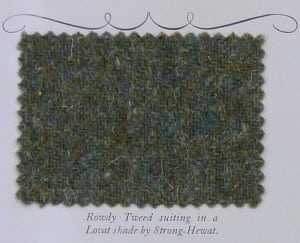 Loavt Green Tweed Suiting Fabric