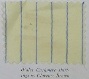 Cashmere Shirting Fabric Rope Stripe