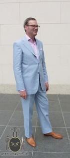 Sky Blue Irish Linen Suit