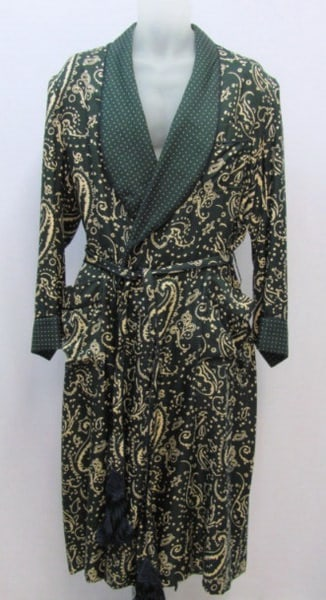 Dressing-Gown-Lounge-Robe-Silk-paisley-polka-dot