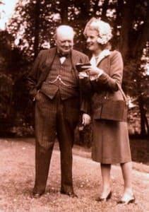 Winston Churchill & Odette Pol-Roger