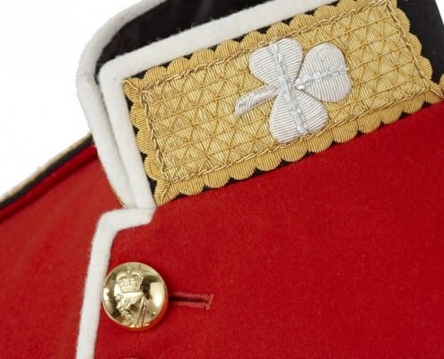 Irish Guard Uniform Collar