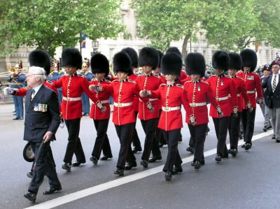 Irish Guards with Bearhead