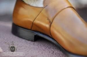 Monk Shoe - inside tan calf leather