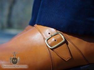 Monk Strap Shoe - brass buckle