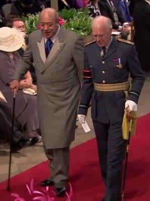 King of Tonga in Frock Coat