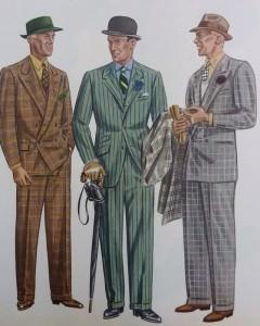 Frühlings Anzüge Glencheck - Fensterakro - Apparel Arts 1936