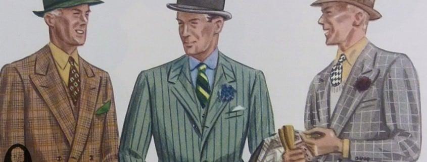 Plaid Chalkstripe Windowpane Suits 1930s