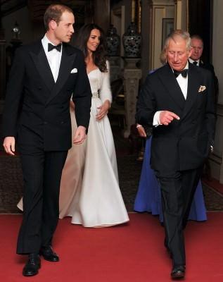 Royal Wedding - Prince Charles & Prince William in Black Tie