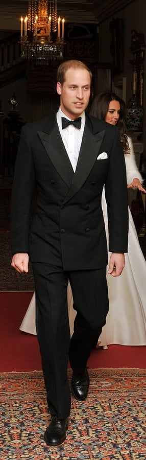 Prince William in Dinner Jacket / Tuxedo with Wingtip Brogue Shoes