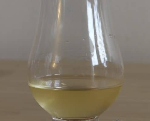 Whisky after the addition of chilled water