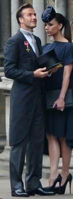 Royal Wedding - David Beckham Morning Coat OBE -wrong-side