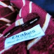 Drakes Shantung Silk Tie