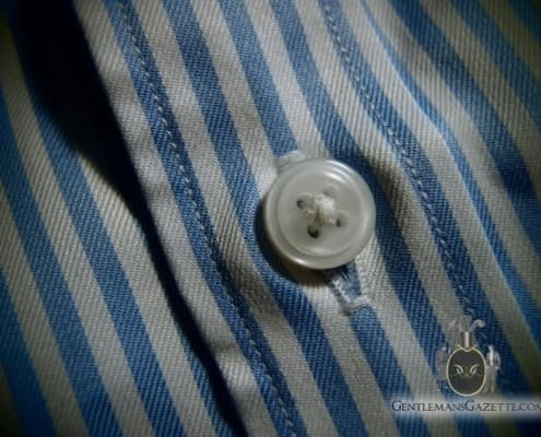 J. Hilburn Shirt Button Wrinkles
