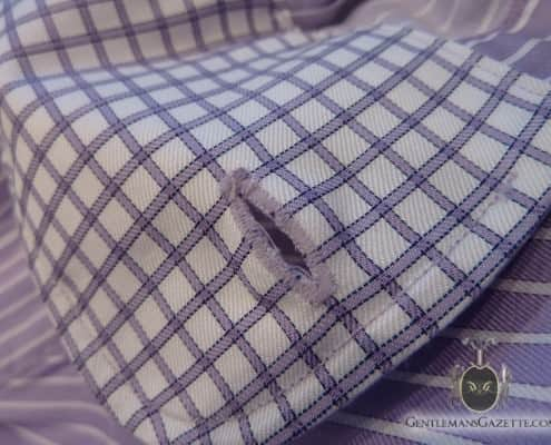 J. Hilburn Shirt Buttonhole Front