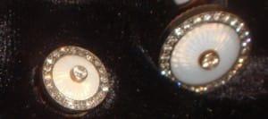 Ananov Cuff Links - Cloisonné Enamel and Diamonds