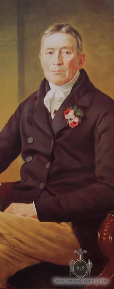 British Gentleman with Boutonniere in Buttonhole Mid 19th Century