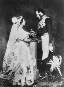 Reenacted Wedding 1854 without Boutonniere