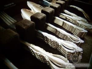 Silver Flatware in Box