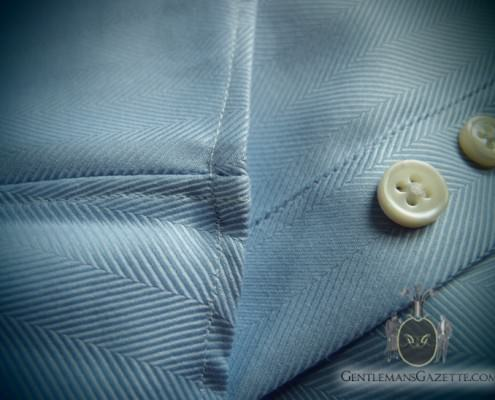 Single Needle Stitching and Spater Buttons