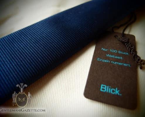 Blick Navy Repp Skinny Tie