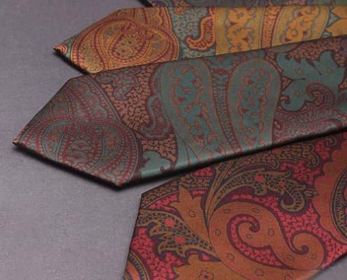 Blick Satin Printed Paisley Tie