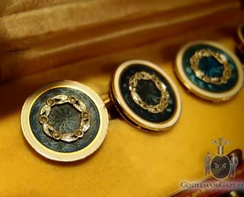 Fabergé Cloisonné Enamel Cuff Links