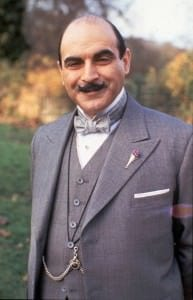 Hercule Poirot with Boutonniere Vase