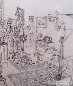 Leslie Saalburg Pencil Cartoon Second Draft.
