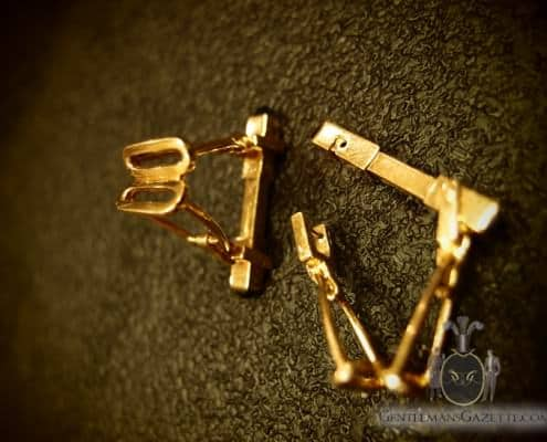 Stirrups Cuff Links With Unusual Mechanism