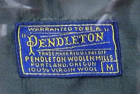 Pendleton Label 1950s