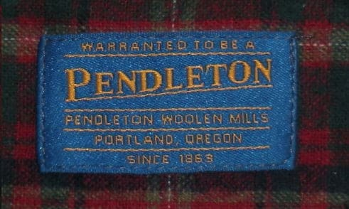 By year labels pendleton Midwest Vintage