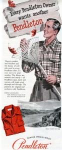 Pendleton Wool Shirt 1949 Ad