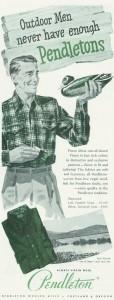 Pendlton Wool Plaid Shirt 1940's