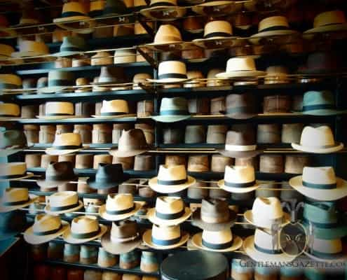Straw Hats On Display