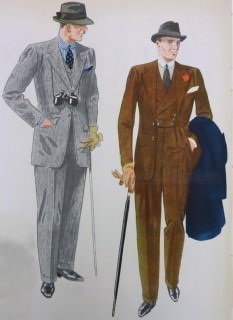 Grey Cheviot Suit & Brown Suit With Black Accessories