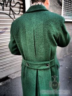 Back view of the Green Overcoat