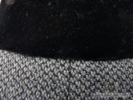 Black Velvet Collar With Grey, Black , Blue Tweed