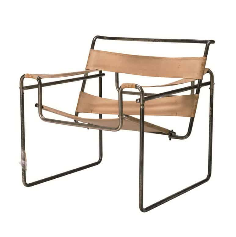 collapsible wassily chair with fabric