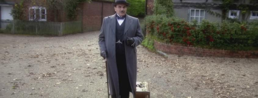 Poirot in Long Overcoat