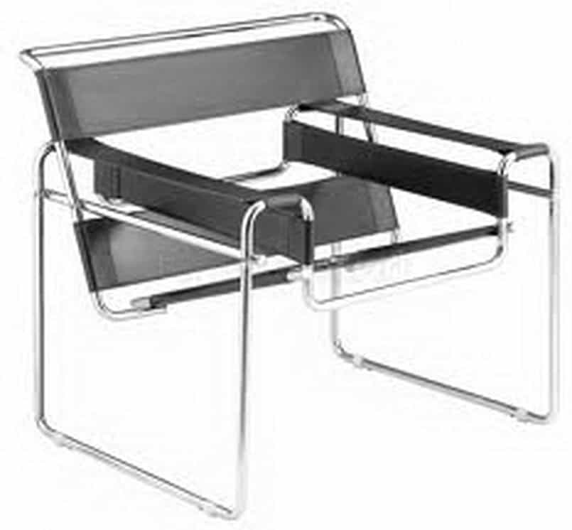 wassily chair black leather