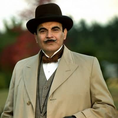 Younger Poirot in Overcoat