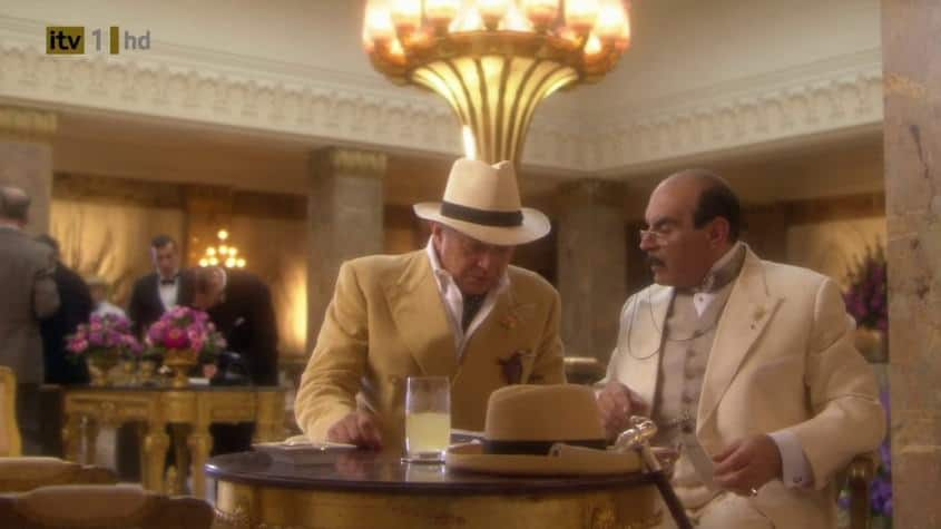 Poirot In Summer Suit with Homburg & Pince-Nez