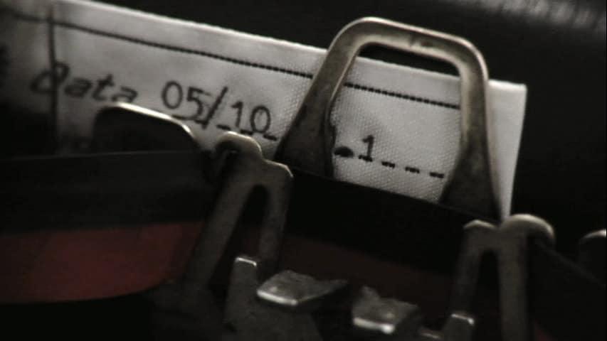 Jacket Label Printed With Typewriter