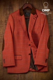 Orange Plaid Sportscoat